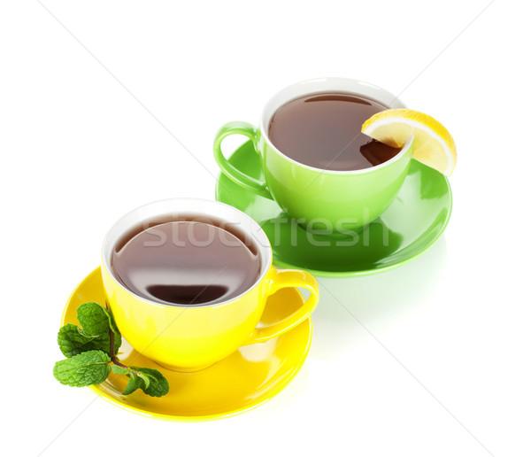 Dois colorido chá limão de Foto stock © karandaev