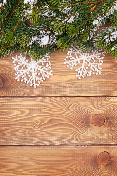 Noël neige flocon de neige rustique Photo stock © karandaev