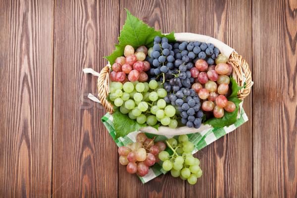 красный Purple белый виноград корзины Сток-фото © karandaev