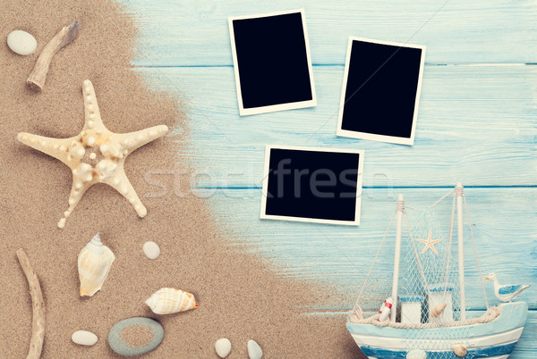 Stock photo: Travel and vacation photo frames and items
