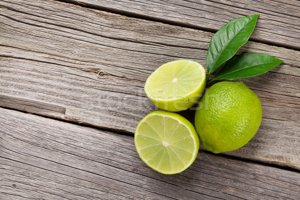 Fresh ripe limes Stock photo © karandaev