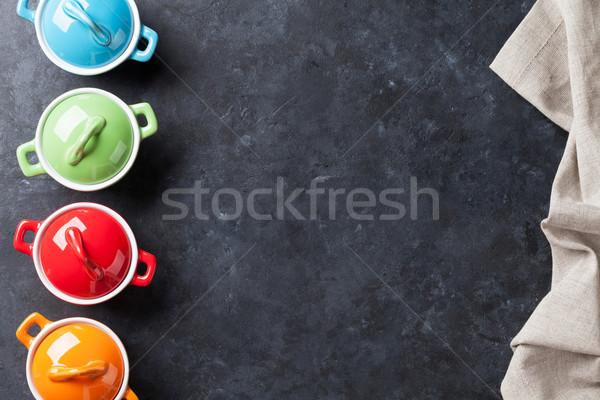 красочный каменные таблице Top мнение копия пространства Сток-фото © karandaev