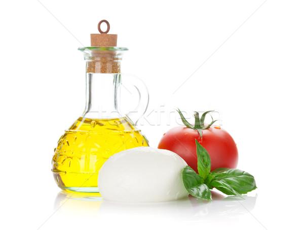 моцарелла сыра томатный базилик оливкового масла трава Сток-фото © karandaev