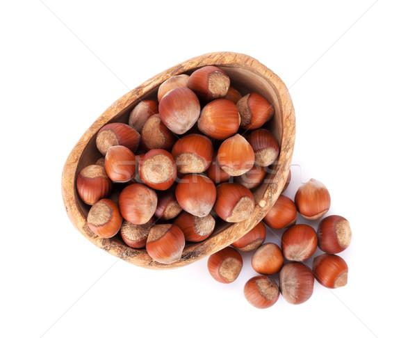 Chestnut nuts in bowl Stock photo © karandaev