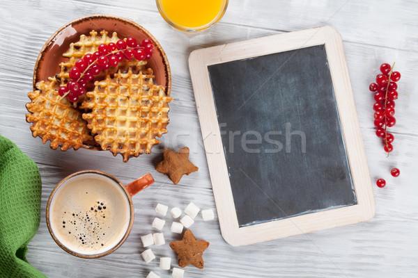 кофе конфеты Ягоды Top мнение доске Сток-фото © karandaev
