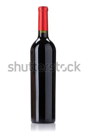 Stock photo: Red wine bottle
