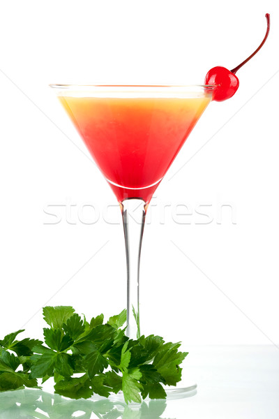 Tequila nascer do sol álcool coquetel isolado branco Foto stock © karandaev