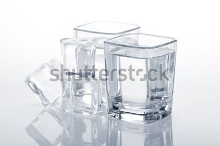 Stok fotoğraf: Atış · gözlük · yalıtılmış · beyaz · parti · arka · plan