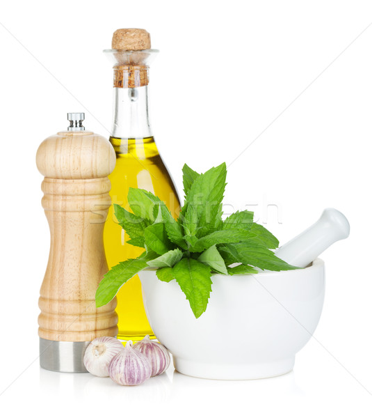 Condiments and herbs Stock photo © karandaev