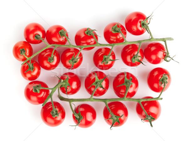 Pomidorki odizolowany biały owoców tle grupy Zdjęcia stock © karandaev