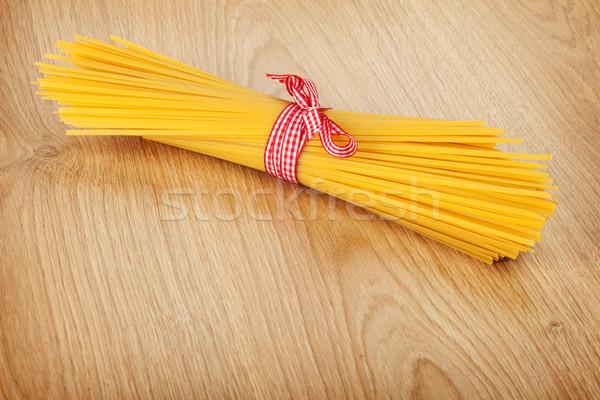 Bos spaghetti houten tafel voedsel hout keuken Stockfoto © karandaev
