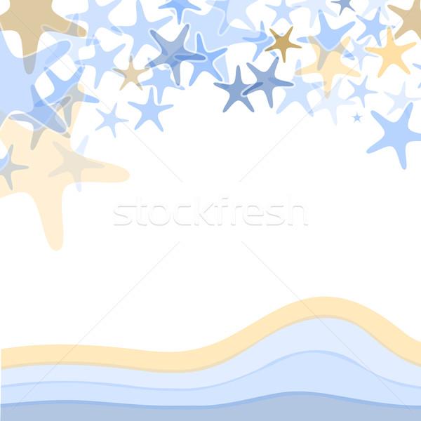カラフル 海 ヒトデ 実例 白 自然 ストックフォト © karandaev
