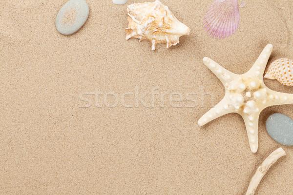 Mer sable starfish obus haut vue Photo stock © karandaev