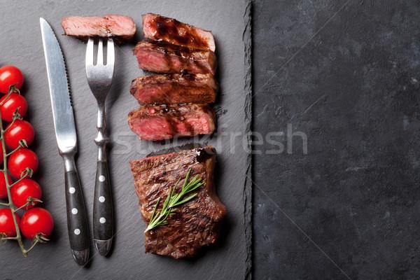Grilled sliced beef steak Stock photo © karandaev