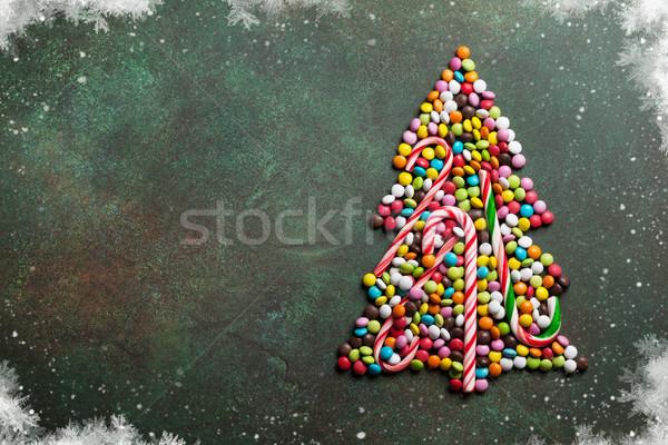 Candy christmas tree shape Stock photo © karandaev