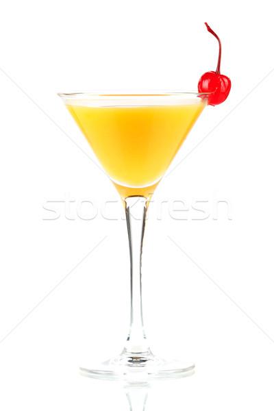 Alcohol cocktail with orange juice and maraschino Stock photo © karandaev