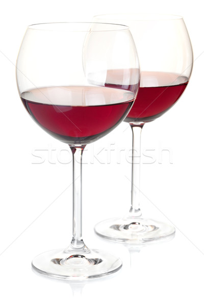 Red wine in glasses Stock photo © karandaev