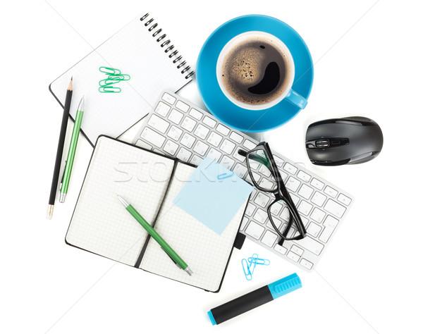 Coffee and office supplies Stock photo © karandaev