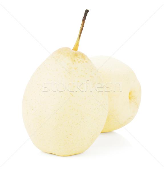 Сток-фото: два · белый · груши · изолированный · продовольствие · природы