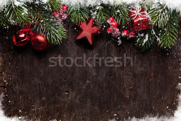 Noël vieux bois texture Photo stock © karandaev