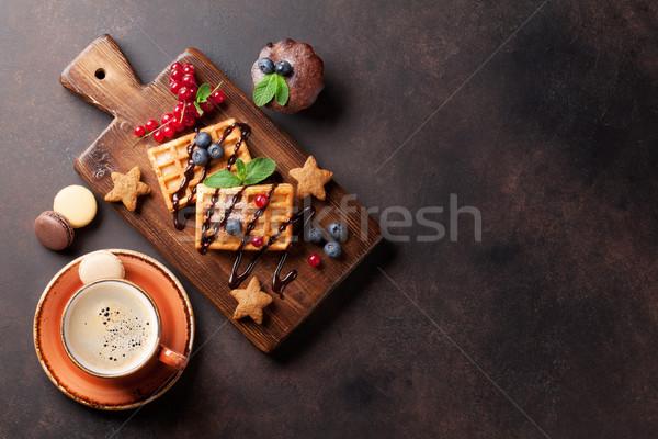コーヒー お菓子 液果類 先頭 表示 コピースペース ストックフォト © karandaev
