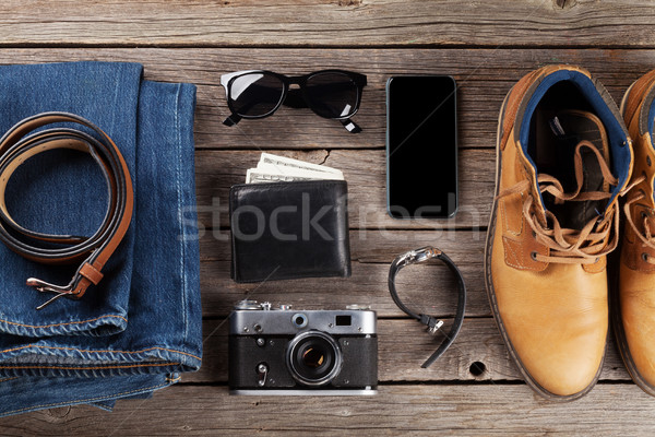 Men's clothes and accessories Stock photo © karandaev