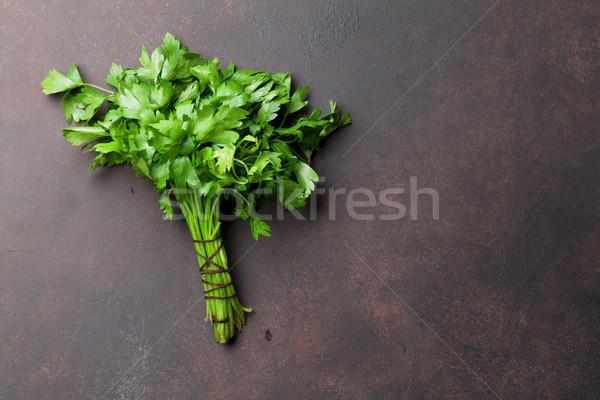 Сток-фото: петрушка · травы · специи · каменные · таблице · Top