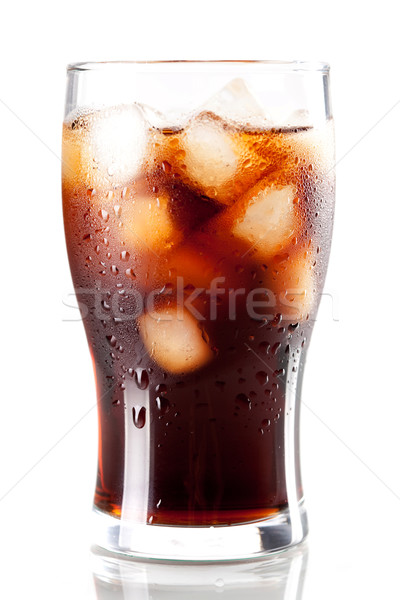 Stock photo: Fresh Cold Cola with ice