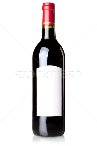 Wine collection - Red wine in bottle Stock photo © karandaev
