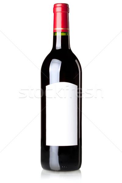 Bor gyűjtemény vörösbor üveg címke izolált Stock fotó © karandaev