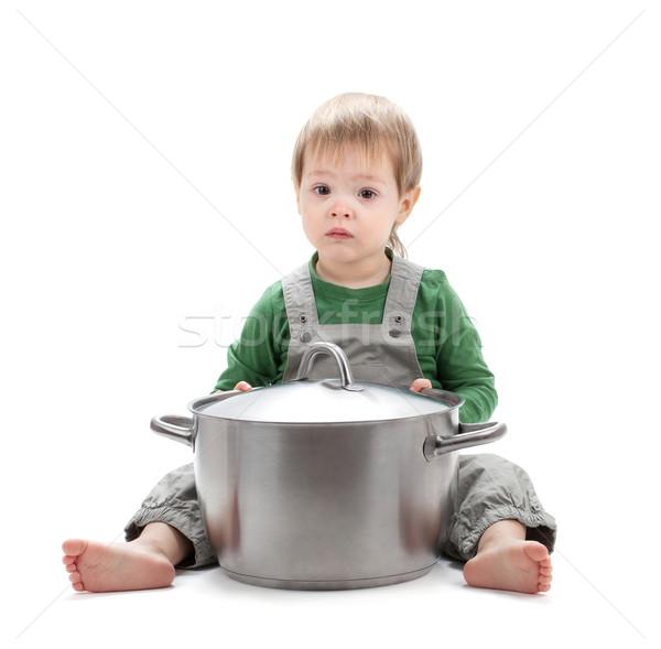 Baby rondel odizolowany biały szczęśliwy dziecko Zdjęcia stock © karandaev