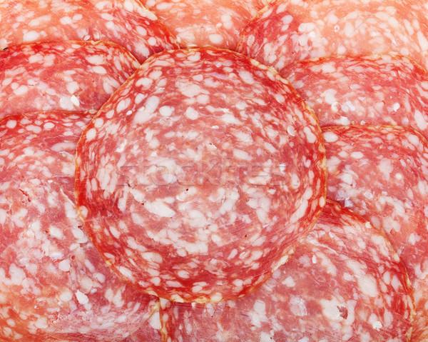 Sliced salami Stock photo © karandaev