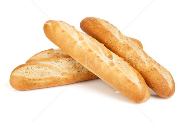 различный французский багет изолированный белый пшеницы Сток-фото © karandaev