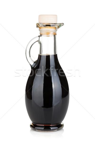 Сток-фото: уксус · бутылку · изолированный · белый · фон · нефть