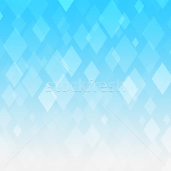 Abstract blue gradient rhombus background Stock photo © karandaev