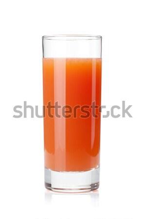 Greyfurt meyve suyu cam yalıtılmış beyaz yaprak Stok fotoğraf © karandaev