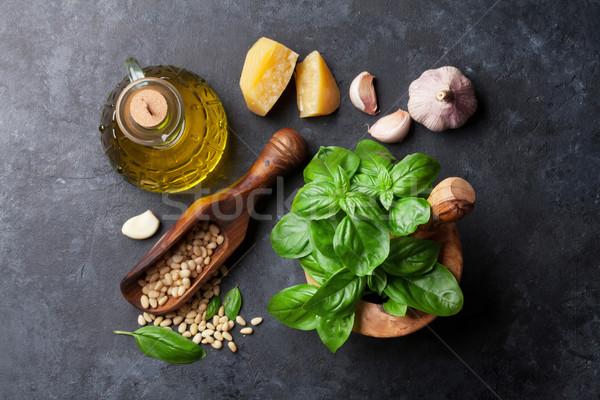 Pesto sauce ingredients Stock photo © karandaev