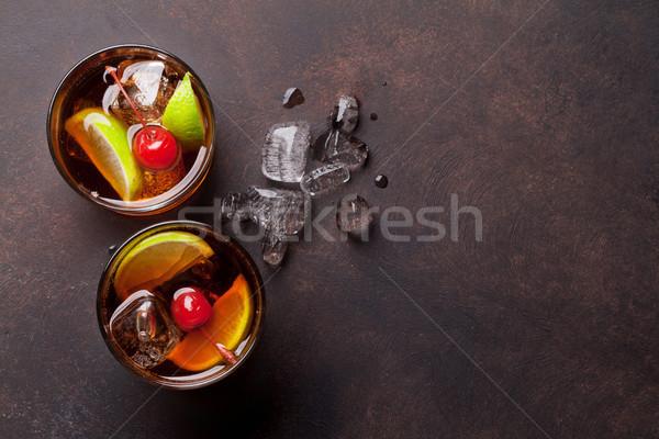 Stockfoto: Cocktail · bril · top · exemplaar · ruimte · partij
