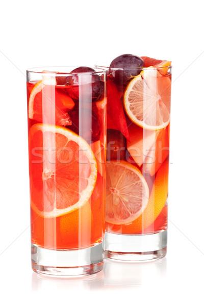 Stockfoto: Cocktail · collectie · vruchten · geïsoleerd · witte