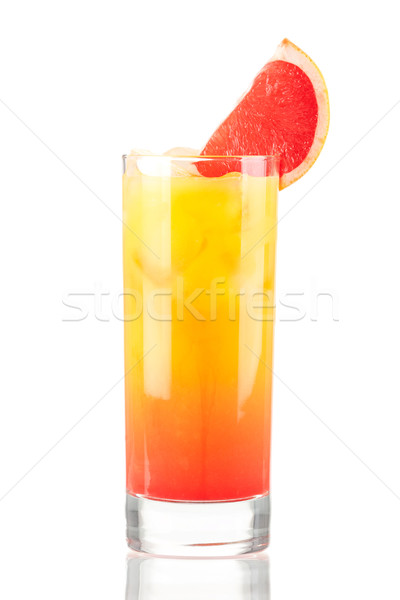 Tequila sunrise alcool cocktail isolé blanche Photo stock © karandaev