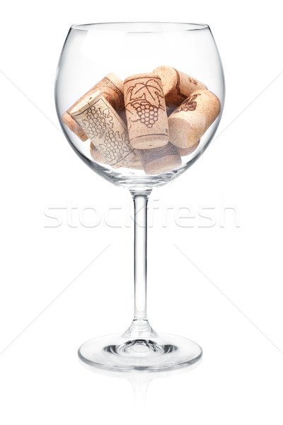 Сток-фото: рюмку · вино · коллекция · изолированный · белый · кухне