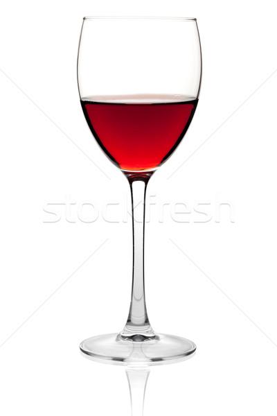Stockfoto: Rode · wijn · glas · wijn · collectie · geïsoleerd · witte