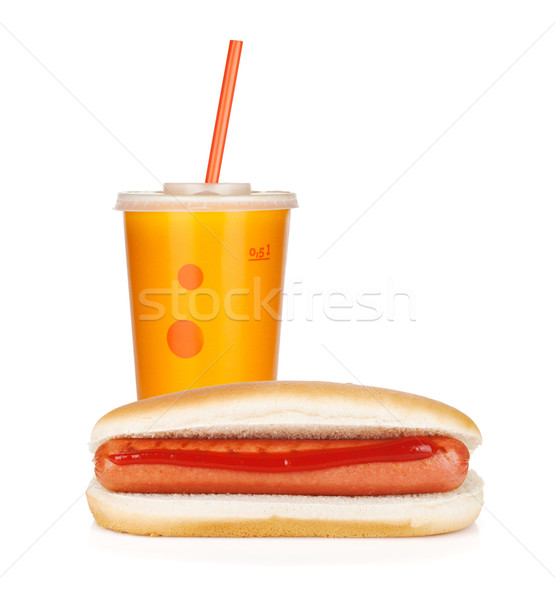 Fast food drink and hot dogs Stock photo © karandaev