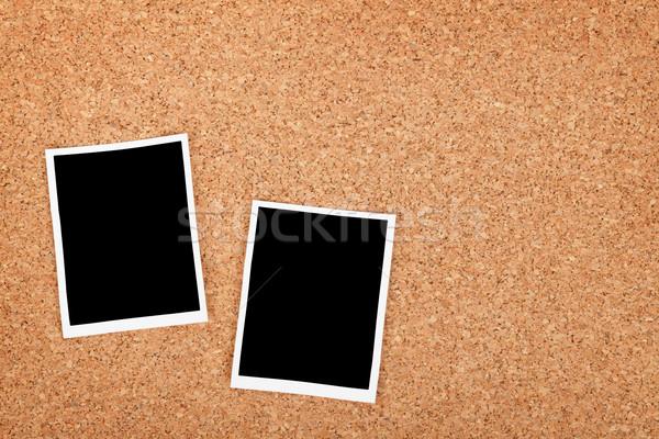 Polaroid foto marcos corcho textura espacio de la copia Foto stock © karandaev