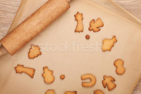 скалка пряничный Cookies приготовления бумаги копия пространства Сток-фото © karandaev