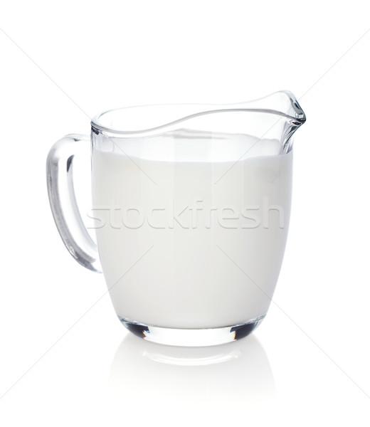Tejesflakon izolált fehér üveg eszik életstílus Stock fotó © karandaev