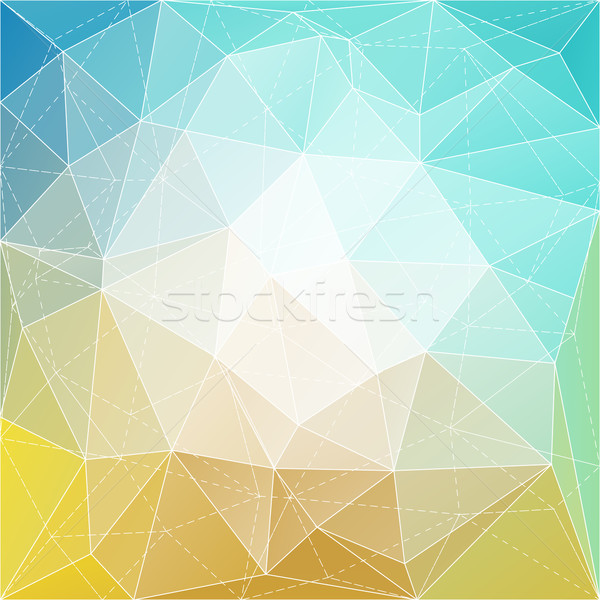 Stock photo: Abstract triangle mosaic gradient colorful background