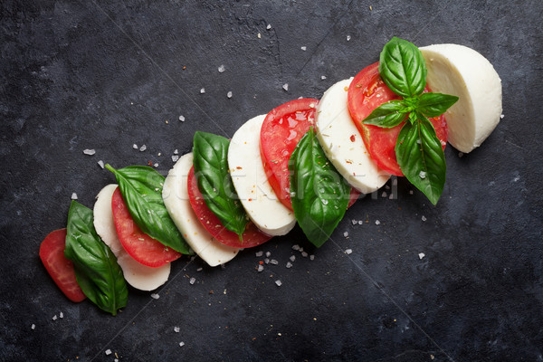Mozzarella cheese, tomato and basil. Caprese Stock photo © karandaev