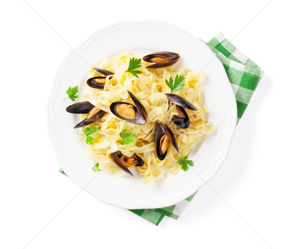 Pasta with seafood Stock photo © karandaev