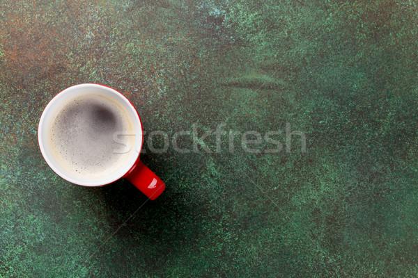 Tasse de caf pierre table haut vue espace for Table vue de haut